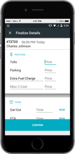 FINAL TRIP CHARGES & PROCESS PAYMENTS IN THE CAR